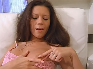 Teen hotties plays with tits before plunging 2 fingers deep in her pussy